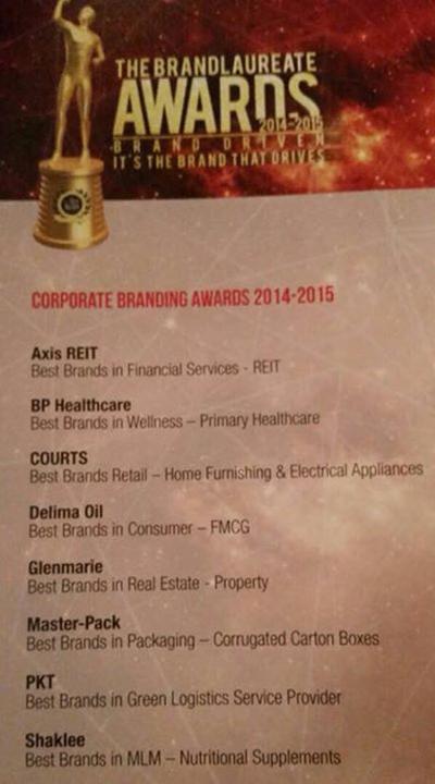 shaklee-MLM-the-brandlaureate-awards-2015