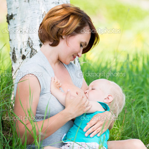 Position for making breastfeeding work for mom and baby