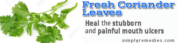 shaklee-mouth-ulcer-fresh-coriander-leaves-remedies