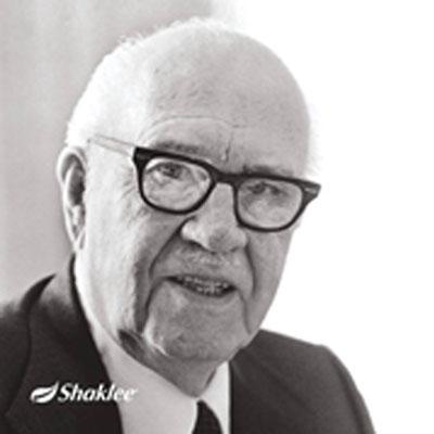 My idola, Dr Forrest C Shaklee