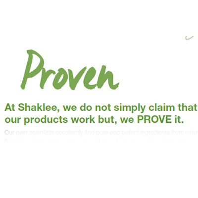 Shaklee Products are Proven By Science