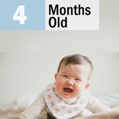 Baby milestone at age 4 months